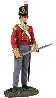 W Britain British 44th Regiment of Foot Battalion Officer - No.2The 44th Regiment of Foot was an infantry regiment in the British Army, raised in 1741. The regiment saw action at the Battle of Waterloo in June 1815.1/30 ScaleMatt Finish