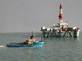 Rhenania brings you RJ87 a 1/1250th scale model of the Maersk Leader a Anchor Handling Tug Supply Vessel