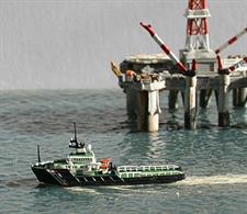Rhenana Junior brings you RJ87C a 1/1250th scale model of the MV Resolve Earl  a Tug / Supply Vessel