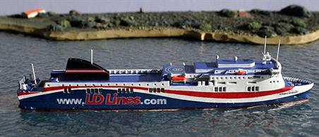 Rhenania RJ260LD is a 1/1250th scale model of the Norman Voyager before being chartered to Brittany Ferries as MV Etretat.
