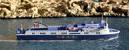Rhenania brings you Rhe Jun 260S a 1/1250th scale Diecast model of the Roll On / Roll Off Ferry Scintu (2011-2014) which has also been named Akeman Street (2009-2011) & Norman Altantic since 2014. Sadly, she caught fire and was badly damaged at the start of 2015. The model is available as Norman Atlantic (RJ260).