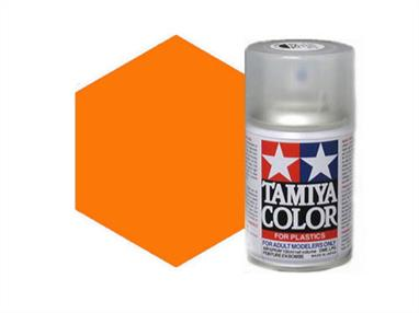 Tamiya TS92 Metallic Orange Synthetic Lacquer Spray Paint 100ml TS-92These cans of spray paint are extremely useful for painting large surfaces, the paint is a synthetic lacquer that cures in a short period of time. Each can contains 100ml of paint, which is enough to fully cover 2 or 3, 1/24 scale sized car bodies.