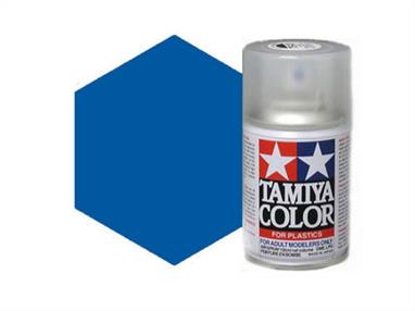 Tamiya TS93 Pure Blue Synthetic Lacquer Spray Paint 100ml TS-93These cans of spray paint are extremely useful for painting large surfaces, the paint is a synthetic lacquer that cures in a short period of time. Each can contains 100ml of paint, which is enough to fully cover 2 or 3, 1/24 scale sized car bodies.