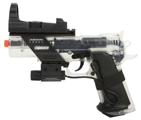 KWC/Cybergun Clear Colt Combat Commander 6mm BB Pistol with Laser Sight 1/1 18356