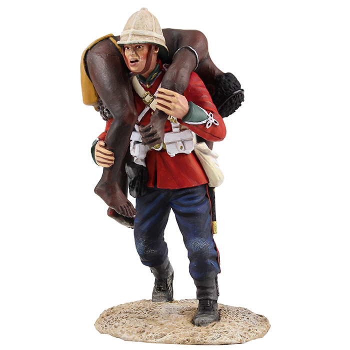 "<p>W Britain ""Clearing the Yard"" Set No.2</p><p>Soldier of the 24th Regiment of Foot carrying a dead Zulu warrior.</p><p>2 Piece Set</p><p>Limited Edition of 450.</p><p>1/30 Scale.</p><p>Matt Finish</p>"
