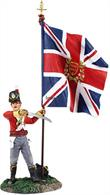 WBritain 54mm 36139 British 44th Regiment Ensign with Kings Colours