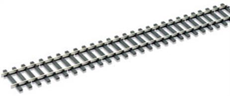 Peco O Box of 12 Streamline Flexitrack Code 124 Bullhead Rail Nickel Silver 914mm SL-700BHBBox of 12 yards of Peco O Streamline Flexitrack Code 124 Bullhead Nickel Silver 914mm SL-700BHPeco Streamline code 124 bullhead rail section represents the chaired rail used widely in the UK throughout the steam era. Rail has a long life and bullhead rail is still to be found on branchlines, freight lines and lightly used routes in addition to most heritage railways.Streamline flexitrack is supplied in 1 yard lengths (914mm). The flexible moulded plastic sleeper base allows the track to be curved to suit the layout requirements while maintaining the correct gauge.Peco SL10 (OO gauge) metal and SL11 insulating rail joiners can be used to connect code 124 bullhead rail and points.