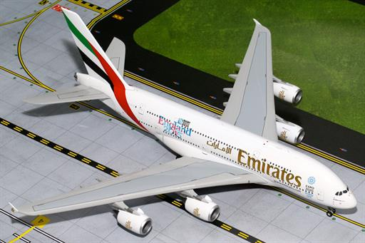 Gemini Jets G2UAE565 Emirates Airbus A380-800 A6-EEN England Rugby World Cup Aircraft Model 1/200