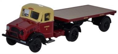 Oxford Diecast 1/76 Bedford OX Flatbed Trailer British Rail 76BD020