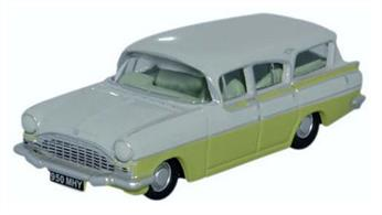Oxford Diecast 1/76 Vauxhall Friary Estate Swan White/Lime Yellow 76CFE006Vauxhall Friary Estate Swan White/Lime Yellow