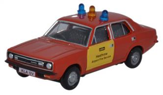 Oxford Diecast 1/76 Morris Marina Heathrow Fire Service 76MAR005Morris Marina Heathrow Fire Service.