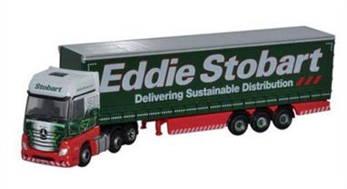 Oxford Diecast 1/148 Mercedes Actros Curtainside Eddie Stobart NMB001Mercedes Actros Curtainside Eddie Stobart