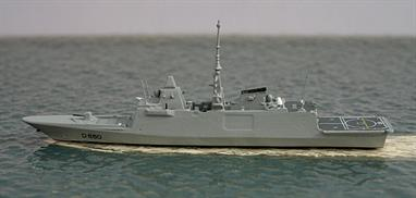 A new 1/1250 scale model of the French Destroyer completed in 2010.