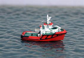 A 1/1250 scale fully painted and finished resin model of Spinola a Mediterranean tug based in Malta.