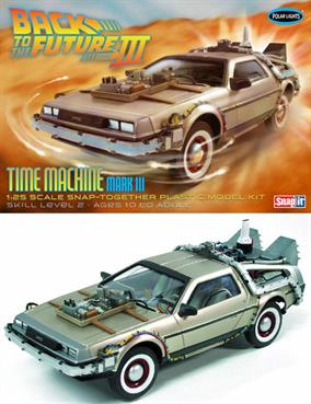 Polar Lights 1/25 Back to the Future III Time Machine Model Kit POL926Snap Together Assembly
