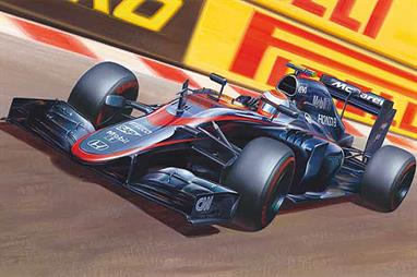 Ebbro E014 1/20th 3015 Mclaren Honda MP4-30 F1 Car KitA nicely detailed model of the McLaren Honda MP4-30 can be built. Full instructions are included
