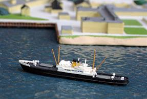Winchester is a 1/1250 scale metal model of Chanel Islands ferry Winchester by Solent Models SOM 01.