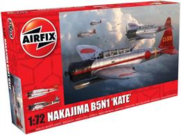 Airfix A04060A 1/72nd Nakajima B5N1 Kate Japanese Torpedo Bomber KitNumber of Parts 107   Length 142mm   Width 214mm