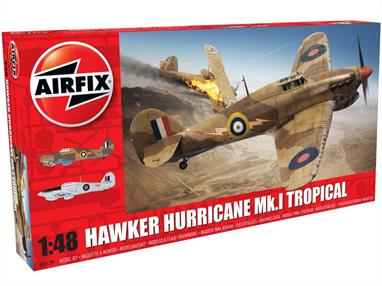 Airfix A05129 1/48th Hawker Hurricane Mk1 RAF Fighter Aircraft Kit Number of Parts 127  Length 200  Wingspan 255mm