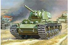Zvezda 6190 1/100 Russian KV-1 with F32 GunKit contains one tank. No glue required.