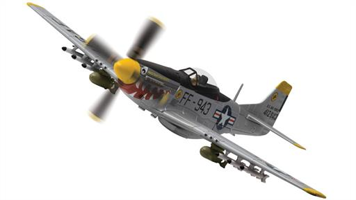Corgi AA27702 USAF P51-D Mustang Was That Too Fast 18th Fighter Bomber Group South Korea 1951 1/72