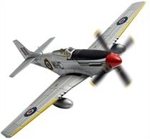 Corgi AA27703 1/72 Scale North American Mustang Mk.IV, Werner Christie, No.150 Wing, RAF Hunsdon, 1945Wingspan 155mm