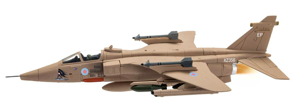 Corgi AA35414 1/72nd scale diecast model of a Sepecat Jaguar GR 1a/3 XZ356/EP Mary Rose RAF No.6 Sqn, Gulf War 25th Anniversary<br>