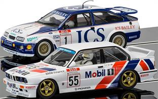 Touring Cars Legends - Ford Sierra RS500 vs BMW E30 C3693ARace: British Touring Car Championship 1990Drivers: Rouse & SytnerNo:.1 ICS & No.55 BMW Finance
