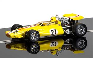Scalextric 1/32 Mclaren M7C Slot Car Model C3698AMclaren M7C C3698AEcurie Bonnier was founded by Joakim Bonnier in 1969 for the purpose of entering the Formula 1 Championships with Lotus and McLaren. 'Jo' had enjoyed a long driving career since 1956 and had lots of experience with all the top teams as well as having run his own teams since 1966. It was in 1970 that Jo Bonnier drove a McLaren M7C under his own team in the US Grand Prix held at Watkins Glen. It was his first race behind the wheel of the McLaren M7C but he unfortunately had to retire from the race half way through due to a broken water pipe.