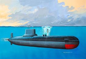 Revell 1/400 Soviet Submarine Typhoon Class 05138Glue and paints are required