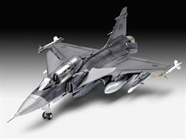 Saab JAS-39D Gripen Twinseater Kit 03956Length 215mm Number of Parts 115 Wingspan 127mmGlue and paints are required to assemble and complete the model (not included)