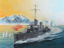German Destroyer Type 1936 05141Glue and paints are required