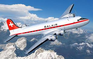 Revell 1/72 DC-4 Balair / Iceland Airways 04947Length 401mmNumber of Parts 356Wingspan 497mmGlue and paints are required