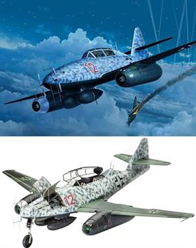 Revell 1/32 Messerschmitt Me262B-1 Nightfighter 04995Length 336mmNumber of Parts 222Wingspan 391mmGlue and paints are required