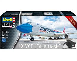 Revell 03836 1/144th Boeing 747-8F Cargolux LX-VCF Facemask Cutaway kit Limited EditionGlue and paints are required