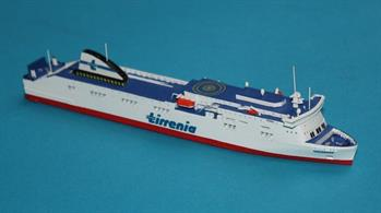 Dimonios is a RORO Passenger Ferry used on the Sardinia Run and operated by Sardegna and is modelled in diecast by Rhenania in a 1/1250th scaleLength = 150mm