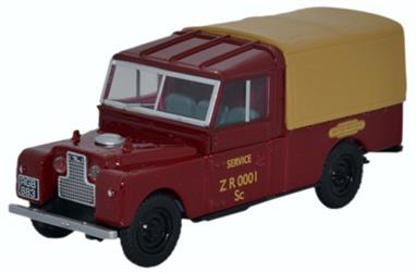 "Oxford Diecast 1/43 Land Rover Series 1 109"" Canvas British Railways LAN1109009"