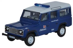 Oxford Diecast 1/76 Land Rover Defender Station Wagon RNLI 76DEF014Land Rover Defender Station Wagon RNLI