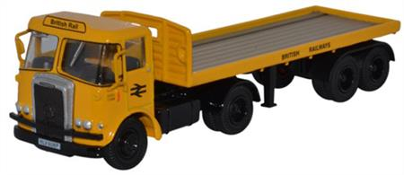 Oxford Diecast 1/76 Atkinson Borderer Flatbed Trailer British Rail 76ATK003Atkinson Borderer Flatbed Trailer British Rail