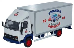 Oxford Diecast 1/76 Ford Cargo Box Van Swansea Festival of Transport 2016 SP108