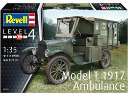 Revell 03285 1/35th Model T 1917 Ambulance KitNumber of Parts 116 Length 128mm Width 47mm Height 58mm