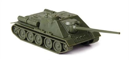 Zvezda 1/100 SU-100 Soviet Self Propelled Gun 6211