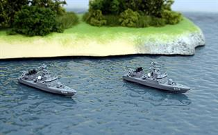 2 modern Japanese Maritime Defence Force patrol boats