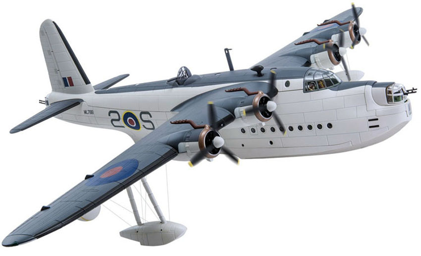Corgi AA27502 1/72 Scale diecast Model of the Short Sunderland Flying Boat MkIII ML788/2 No 422 Squadron RCAF based at Pembroke Dock<br>Wingspan 470mm