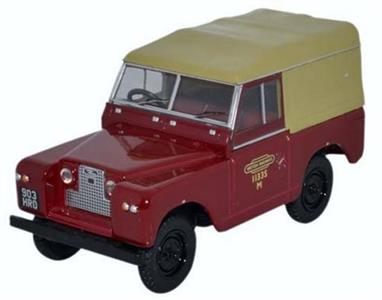 Oxford Diecast 1/43 Land Rover Series II SWB Canvas British Rail 43LR2S002