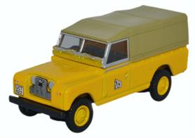 Oxford Diecast 1/76 Land Rover Series II LWB Canvas JCB 76LAN2016