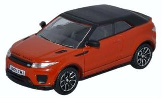 Oxford Diecast 1/76 Range Rover Evoque Convertible Phoenix Orange 76RREC001
