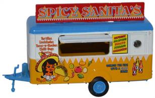 Oxford Diecast 1/76 Mobile Trailer Spicy Sanitas 76TR013