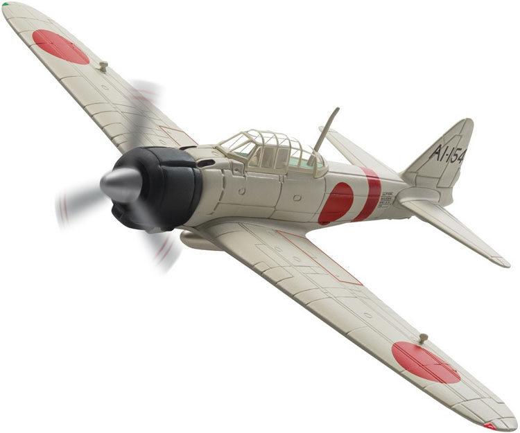Corgi AA33108 1/72 Scale Diecast Model of a  Mitsubishi A6M2 Zero AI-I54 s/n.5289, Takashi Hirano Imperial Japanese Navy Aircraft Carrier Akagi Pearl Harbour <br>Wingspan 166mm