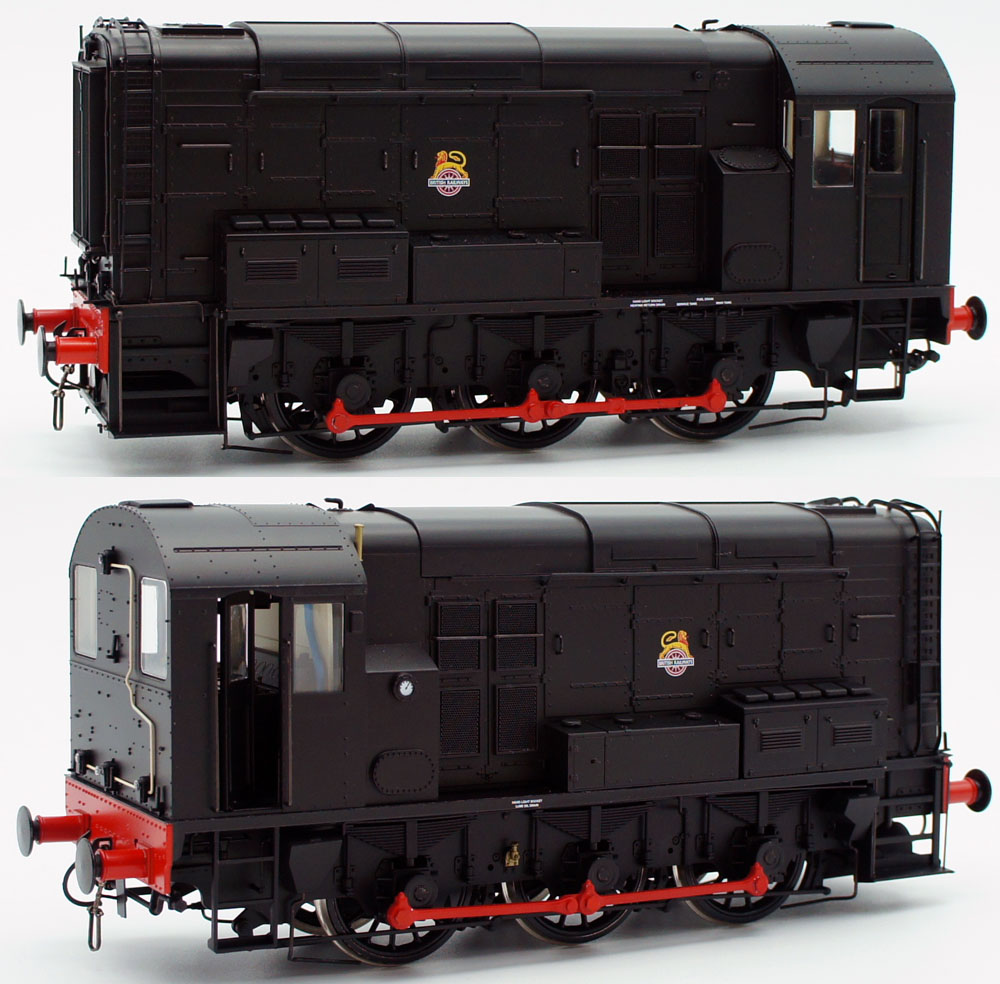 Dapol BR Class 08 0-6-0 Diesel Shunting Engine Black Livery UnNumbered O Gauge 7D-008-007U